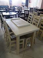 Стол для ресторанов/баров/кафе Классик Плюс 140(+50)х85х79 (белый,бежевый)