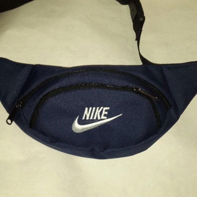 Поясная сумка бананка Nike, Найк темно-синяя ( код: IBS068Z )