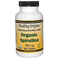 Спирулина органическая кошерная чистая , таблетки 500 мг 360 шт