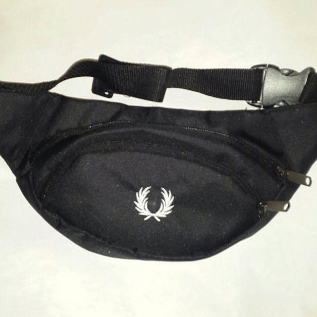 Поясная сумка бананка Frеd Реrry, Фред Пэрри черная ( код: IBS066B )