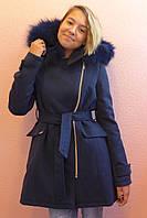 Детская одежда.   Пальто кашемировое-зимнее 16(синее), фото 1