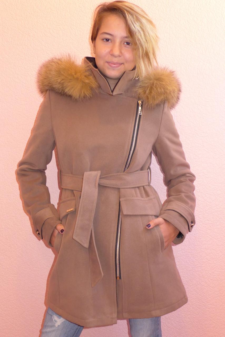 Детская одежда.   Пальто кашемировое-зимнее 16(шоколад)