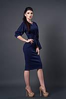 Модное платье длинной за колено. Размеры: 46