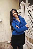 Пальто женское кашемировое с подкладкой атлас - Синий