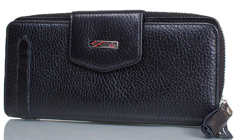 Жіночий гаманець з натуральної шкіри Desisan Shi731-1-2fl чорний