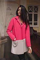 Пальто женское кашемировое с подкладкой атлас - Малиновый
