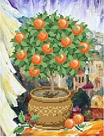 """Схема для вышивки бисером """"Апельсиновое деревце"""""""