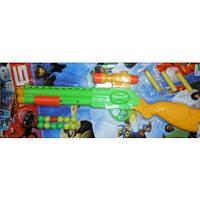 Ружье с пластиковыми пульками и поролоновыми присосками