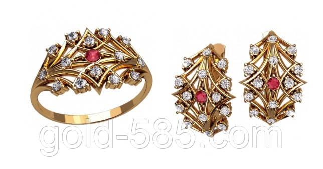 7240a2d0605f Детализированный золотой ювелирный набор 585  пробы  продажа, цена в ...