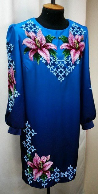 Купити Жіночі плаття (заготовки) на кольоровому габардині. Найприємніші  ціни і найкраща якість від