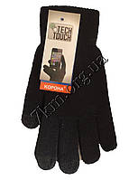 """Перчатки подростковые для телефона от 8 лет """"Tech touch"""" одинарные Оптом"""
