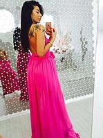 Платье женское вечернее из двойного шифона
