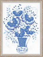 Набор для вышивания крестом «Голубой букет» (1366)