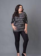 Нарядная женская кофточка серого цвета