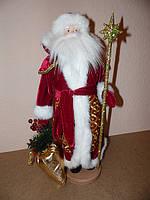 Дед Мороз средний (золотой посох) (53 см)