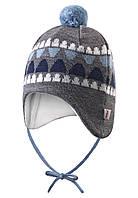 Зимняя шапка с помпоном для мальчика Reima 518378-6770. 40-44.