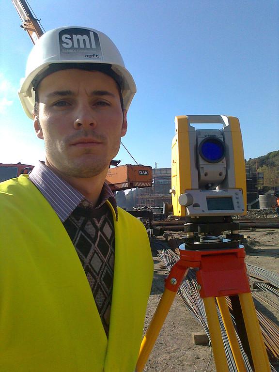 """Обучение работе на тахеометре Trimble M3 5""""DR (SML Construction - турецкая строительная компания) 2012 год"""