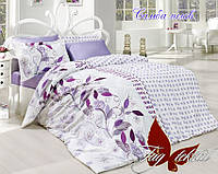 Постельное белье 150х220 ранфорс Tag Самба лилов.