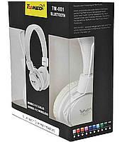Наушники Bluethooth Stereo TM-001 White