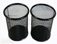 Підставка склянку 8224 для ручок, метал 8х10см Чорний уп12