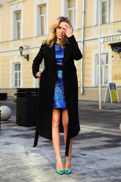 Красивое женственное пальто с поясом