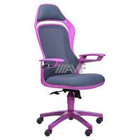 Кресло Spider GTX сетка серая, каркас фиолетовый