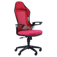 Кресло Racer сетка красная, каркас черный