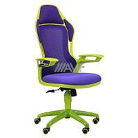 Кресло Racer сетка фиолетовая, каркас зеленый