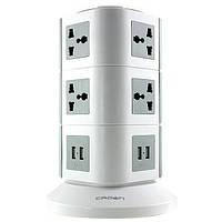 Сетевой фильтр 10 розеток, 4 USB порта CROWN