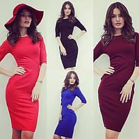Облегающее женское платье трикотаж Арт. 422АР