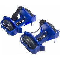 Ролики на пятку-Flashing Rollers, мини-ролики,хелисы (синие)