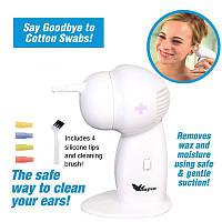 Электрическое устройство для удаления ушной серы Waxvac в коробке.