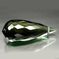 Камень, Зеленый КВАРЦ, огранка Бриолет