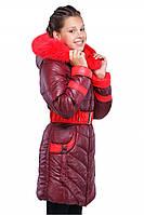 Зимняя куртка для девочки Дженни 2 с мехом песца 122-158 рр