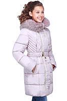 Зимняя куртка для девочки Мирабель с мехом 128-158 рр