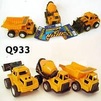 Машина инерционная Q933 стройка, 3 вида, в сетке 28*10*12см