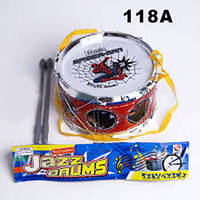 "Барабан 118A  ""Спайдермен ""с палочками, в пакете 17*10см"