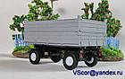 Масштабная модель прицеп тракторный ПТС 1/43 вар 3, фото 2