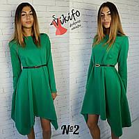Женское красивое платье с асимметричным низом (5 цветов)