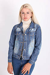 Стильная молодежная женская джинсовая куртка