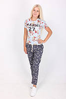 Модные молодежный женские штаны в звездочку