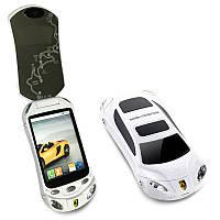 """Телефон-раскладушка в виде машинки смартфон Ferrari F16 Android 4 на 2 сим-карты экран 3,2"""""""