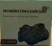 Мумиё гималайское форте 60 кап., Шиладжитвади, Shilajitvadi Bati, Mumiyo, Аюрведа Здесь!