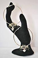 Серьги - кольца  с чешскими хрусталиками