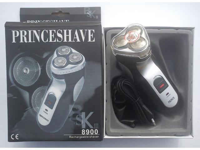 Электробритва / триммер аккумуляторная 3 ножа. Беспроводная роторная бритва PrinceShave SK III