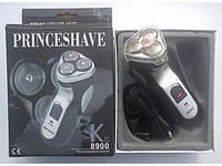 Электробритва / триммер аккумуляторная 3 ножа. Беспроводная роторная бритва PrinceShave SK III, фото 1