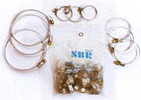 Хомут металл SBR 35-55 нержавеющий(25шт)