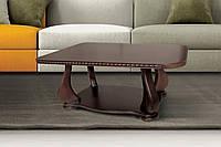 Столик журнальный деревянный Эдем 100х55х50 (темный орех)