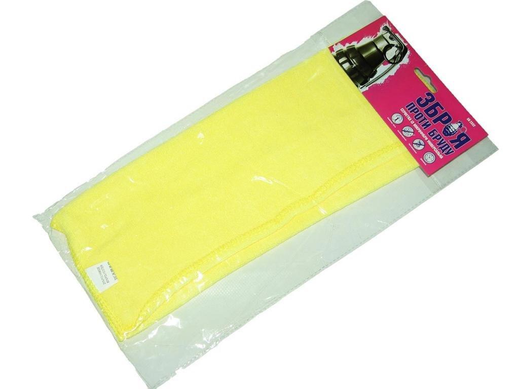 Тряпочка микрофибра универсальная 9846A желтая 35с