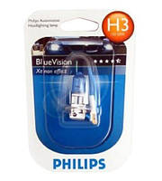 Галогенка H3 PHILIPS 12V 55W 12336BVUB1 BlueVision